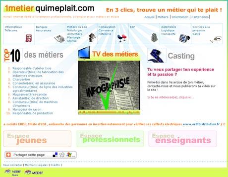 Aperçu écran de la page d'accueil